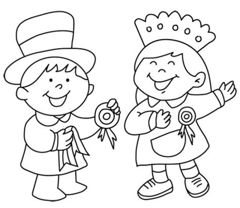 Imágenes Del 25 De Mayo Para Niños Para Pintar, Colorear E