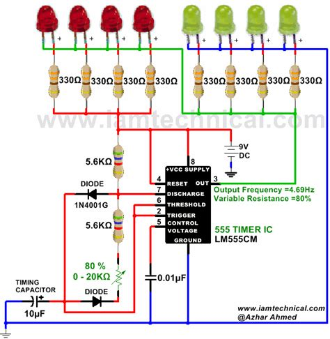 Astable Circuit Using Timer Output Frequency