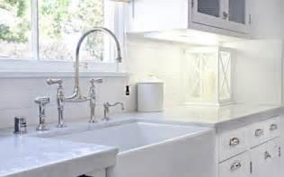 Farmhouse Kitchen Faucets Form Versus Function A Farmhouse Sink And That Perrin Rowe Bridge Mixer Faucet