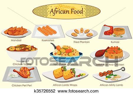 clipart  collection  delicious african food