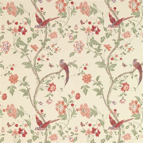 summer palace cranberry wallpaper going on