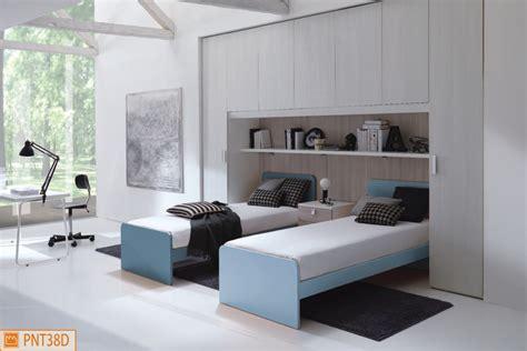 camerette letto a ponte due letti simmetrici sotto l armadio a ponte