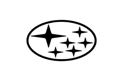 high quality subaru logo white transparent png