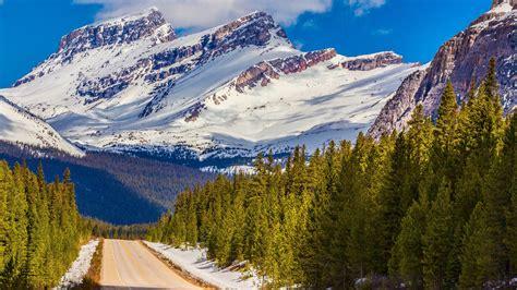Wallpaper Banff National Park, Snow mountains, HD, 4K