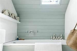 Salle De Bain Idée Déco : peinture salle de bains 24 id es de murs en deux couleurs ~ Dailycaller-alerts.com Idées de Décoration