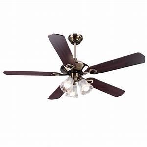 Traditional bronze finish ceiling fan light kit w