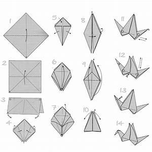 Origami Kranich Anleitung : mit origami papier basteln die beste origami faltanleitung ~ Frokenaadalensverden.com Haus und Dekorationen