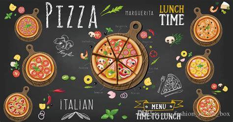 custom  wallpaper  walls  pizza shop wall mural