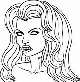 Vampire Coloring Halloween Printable Anime Vampires Diaries Draw Step Dragoart Fashionable Adults Colouring Sheets Adult Getdrawings Cartoon Drawing Library Clipart sketch template