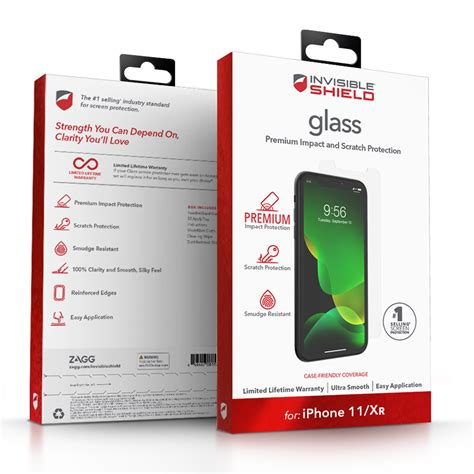 - ZAGG - InvisibleShield Glass Screen Protector for iPhone