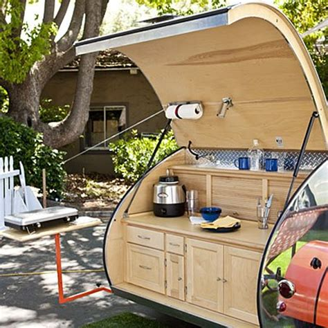 cer trailer kitchen ideas teardrop trailers hitch a tiny kitchen to your car the kitchn