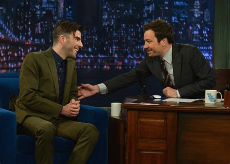 zachary quinto jimmy fallon jimmy fallon photos photos zachary quinto stops by late