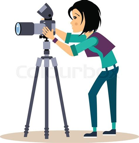 13237 photographer taking a picture clipart cool vector photographer with a and tripod