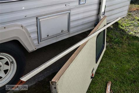 how to repair furniture the 1 67 travel trailer door repair and a lesson funky junk interiors