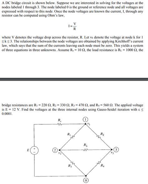 Solved Bridge Circuit Shown Below Suppose Are