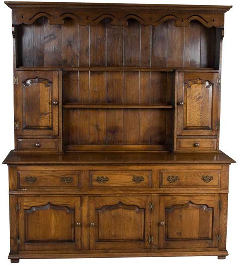 Antique Style Solid Oak Welsh Dresser Plate Rack Kitchen