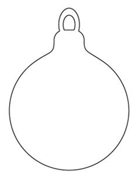 christmas ornament outlines printable pattern use the printable outline for crafts creating stencils