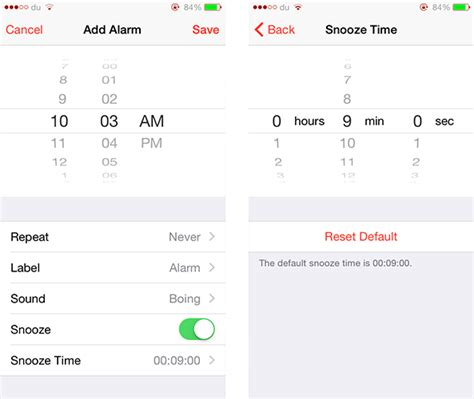 how to set alarm on iphone how to change the snooze time for iphone alarms with