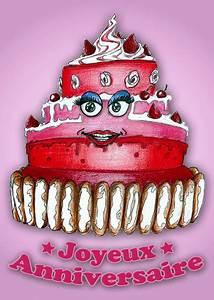 Image De Gateau D Anniversaire : carte joyeux anniversaire gros g teau rose envoyer une ~ Melissatoandfro.com Idées de Décoration