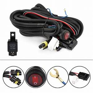 12v 30a Led Fog Light Driving Bar Wiring Loom Harness Kit