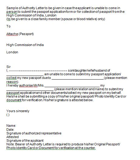 authorization letters  act  behalf writing