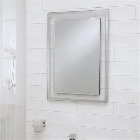 bathroom mirror edging luxor bevelled edge mirror 700 h 500 w