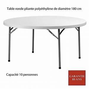 Table Pliante Ronde : table ronde pliante poly thyl ne planet180 diam 180 ~ Teatrodelosmanantiales.com Idées de Décoration