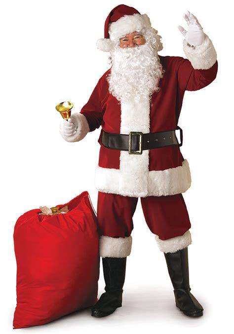 Realistic Santa Suit - Deluxe Crimson Santa Claus Costume