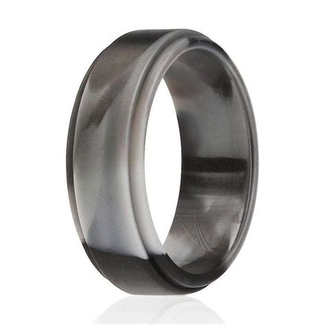 100 silicone black camo rings for step edge style shop roq