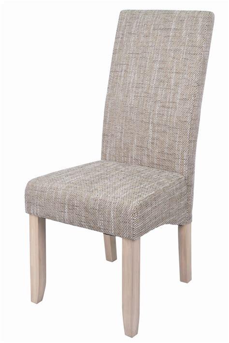 chaise tissu salle a manger chaise de salle à manger en tissu lot de 2 dinard