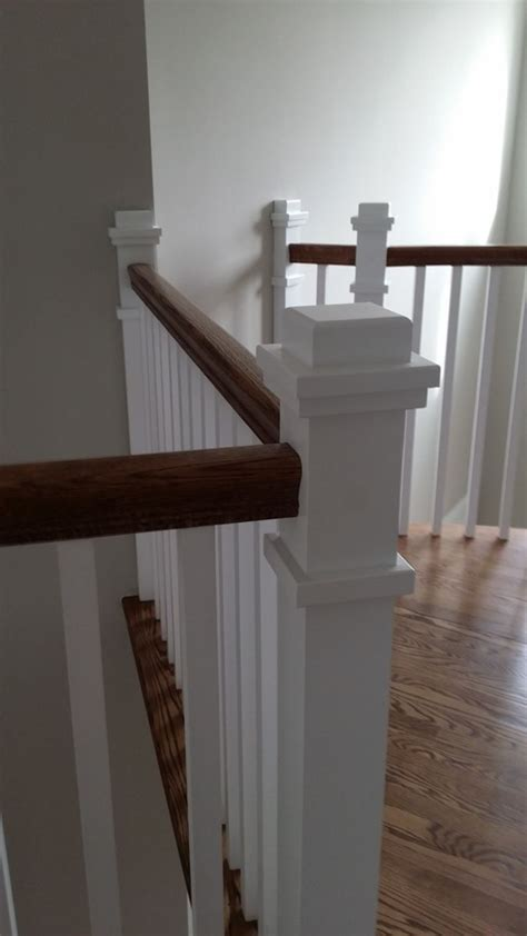 Craftsman Style Stair Railing   MITRE CONTRACTING, INC.