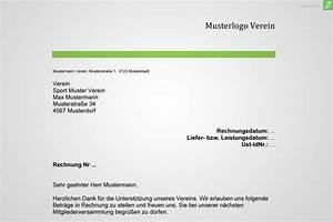 Rechnung Stellen Als Privatperson : musterrechnung verein gratis downloaden everbill magazin ~ Themetempest.com Abrechnung