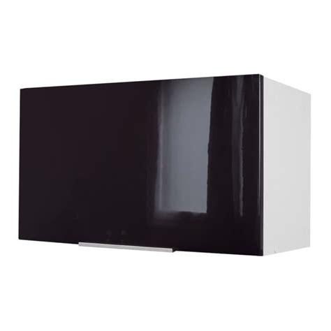 meuble haut cuisine noir laque pop meuble hotte 60 cm noir haute brillance achat vente 233 l 233 ments haut caisson hotte 60 cm