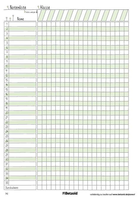 notenliste vorlage zum ausdrucken aus dem betzold design
