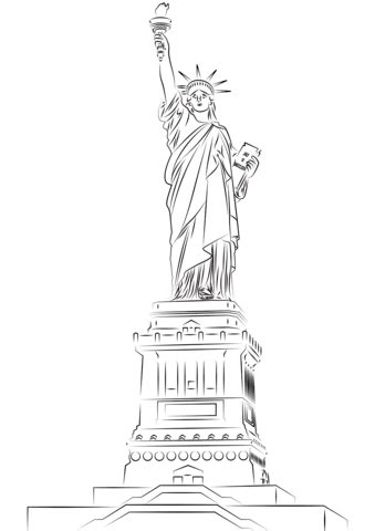 statue  liberty coloring page  printable coloring pages