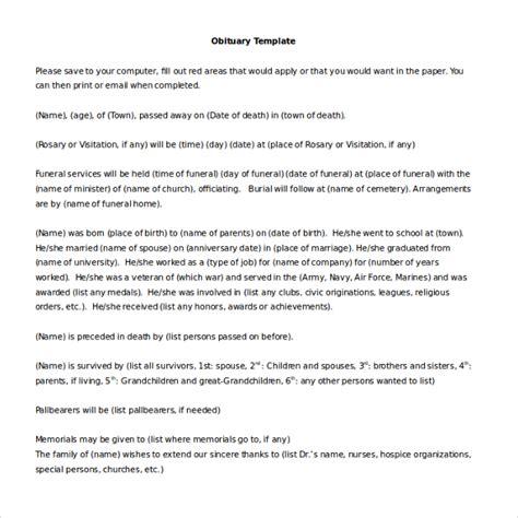 microsoft word obituary template 10 microsoft word obituary templates free free premium templates