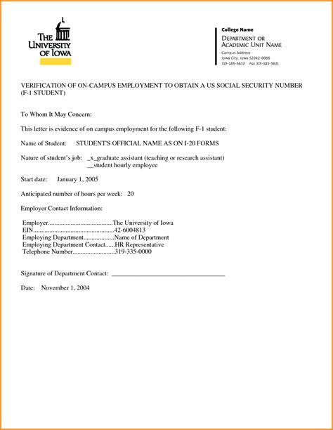 employment verification letter template word exle of employment verification letter