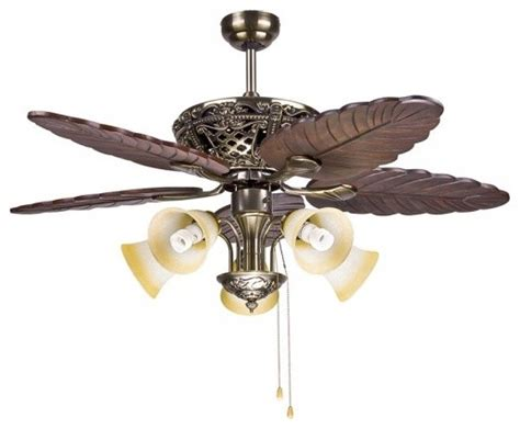 big traditional decorative ceiling fan light for living