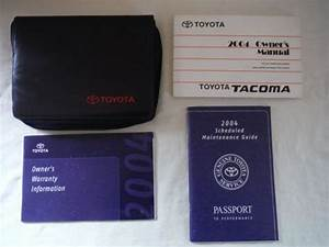 Buy 2004 Tacoma Owners Manual