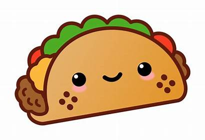 Taco Kawaii Tacos Clipart Clip Cartoon Transparent