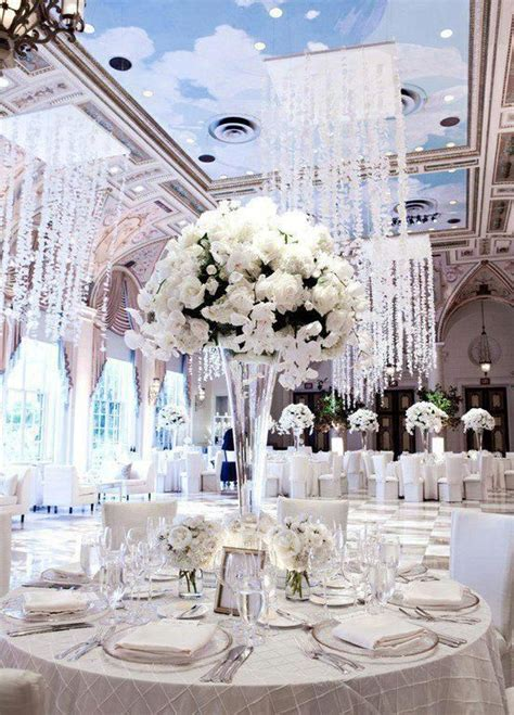 All White Wedding Reception Pictures Photos and Images