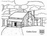 Coloring Tremont Institute Drawing Cove Entertain Smoky Mountains Cades sketch template