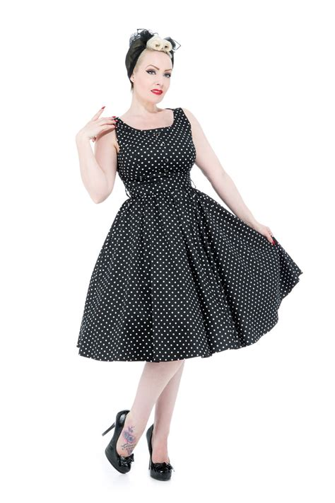 50 Er Jahre Style by 50er Jahre Retro Polka Dots Petticoat Swing Kleid V