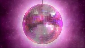 Disco Ball Rotating Light Disco Mirror Ball Rotating Loop Animation Stock Footage