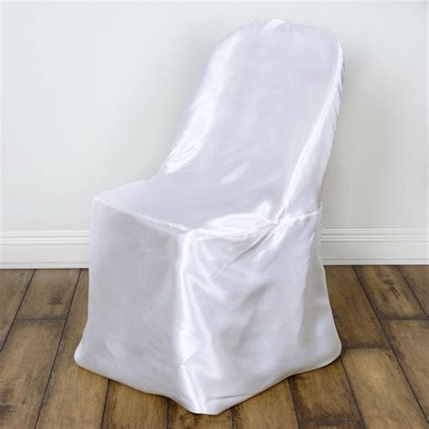 white satin folding chair covers efavormart
