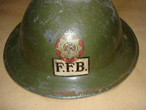 British fire service steel helmets images