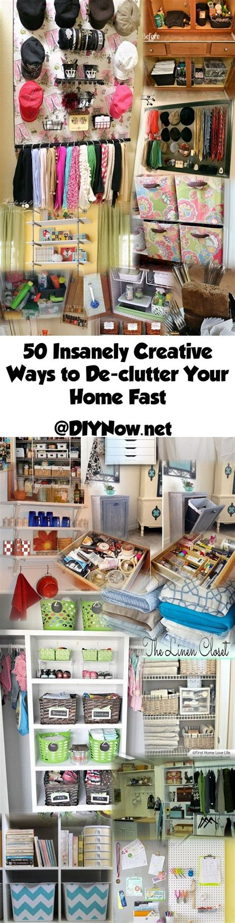 50 Insanely Creative Ways to Declutter Your Home Fast