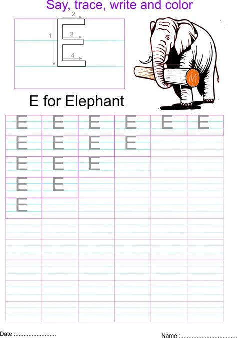 english capital letter  worksheet