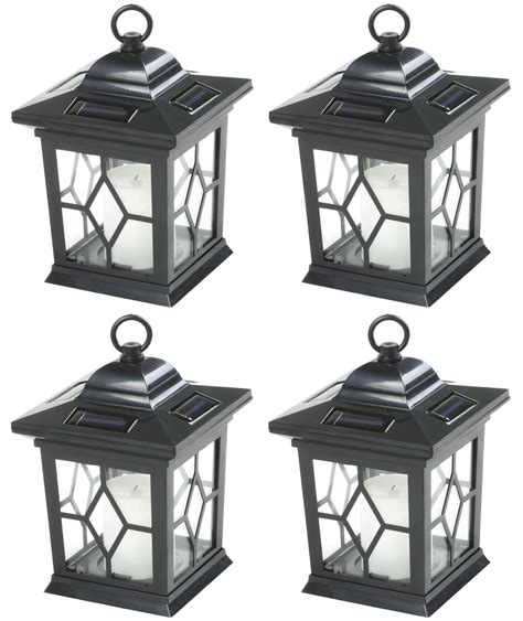 Woodside Solar Powered Flickering Hanging Candle