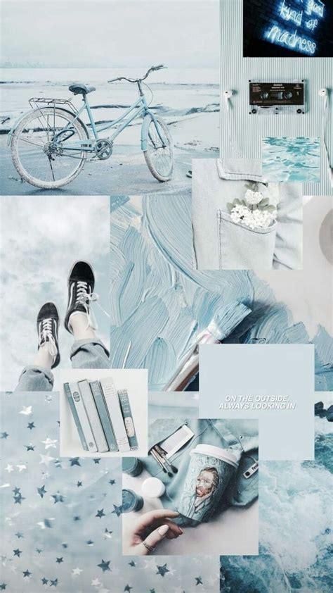 wallpaper iphone gambar aesthetic warna biru